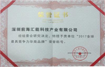 华商品牌证书